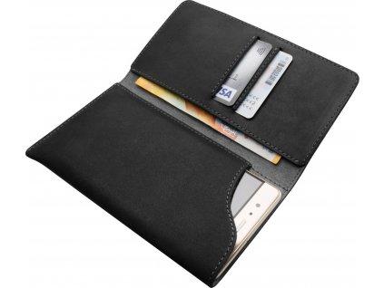 Kožené pouzdro FIXED Pocket Book pro Apple iPhone 6 Plus/6S Plus/7 Plus/8 Plus/XS Max/11 Pro Max, šedé