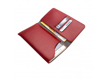 Kožené pouzdro FIXED Pocket Book pro Apple iPhone 6 Plus/6S Plus/7 Plus/8 Plus/XS Max/11 Pro Max, červené