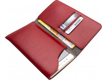 Kožené pouzdro FIXED Pocket Book pro Apple iPhone XR/11, červené