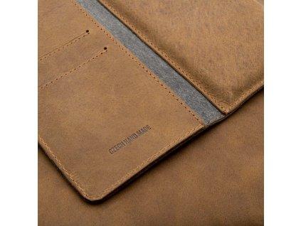 Kožené pouzdro FIXED Pocket Book pro Apple iPhone XR/11, hnědé