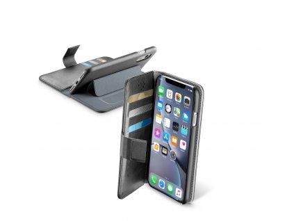 Pouzdro typu kniha CellularLine Book Agenda pro Apple iPhone XR, černé