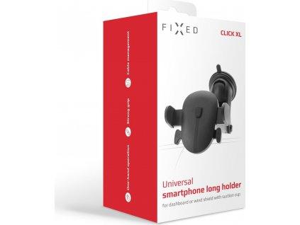 Univerzální držák FIXED Click XL s dlouhou přísavkou na sklo nebo palubní desku