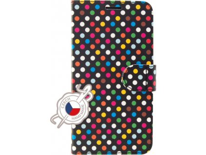 Pouzdro typu kniha FIXED FIT pro Apple iPhone 11 Pro, motiv Rainbow Dots