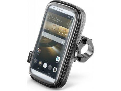 """Voděodolné pouzdro Interphone SMART pro telefony do velikosti 6,5"""", úchyt na řídítka, černé"""