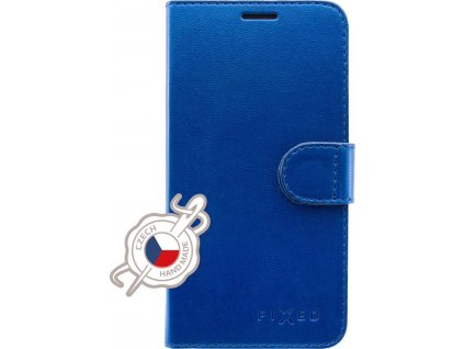 Pouzdro typu kniha FIXED FIT Shine pro Apple iPhone XR, modré