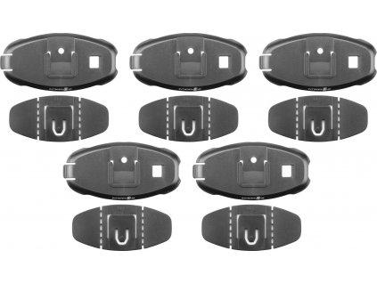 Sada 5 ks náhradních nalepovacích základen pro interkomy Interphone Active a Connect