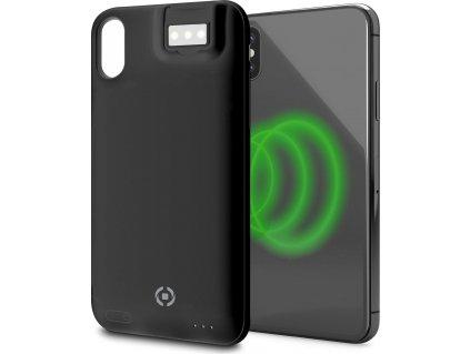 Zadní kryt CELLY Powercase pro Apple iPhone X/XS s integrovanou baterií a bezdrátovým dobíjením, 5W, černý