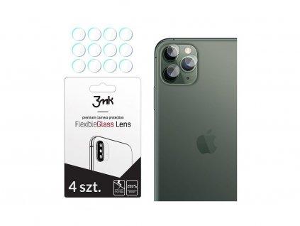 Hybrid Glass 3MK Lens protection pro čočku fotoaparátu Apple iPhone 11 Pro, (4 kusy)