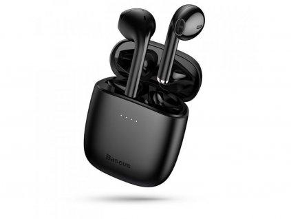 Baseus W04 TWS bezdrátová bluetooth sluchátka s dobíjecím pouzdrem, černá