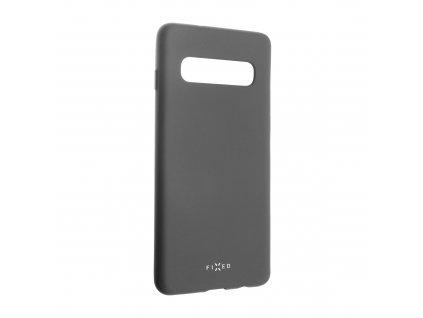 Zadní pogumovaný kryt FIXED Story pro Samsung Galaxy S10, šedý