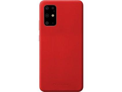 Ochranný silikonový kryt Cellularline Sensation pro Samsung Galaxy S20+, červený