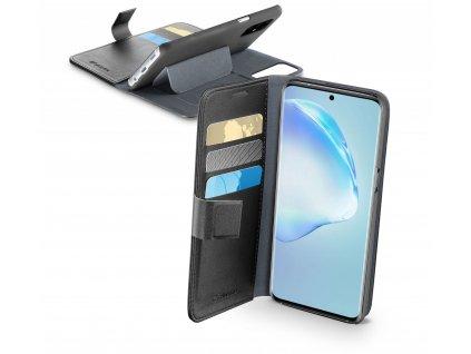Pouzdro typu kniha Cellularline Book Agenda pro Samsung Galaxy S20+, černé