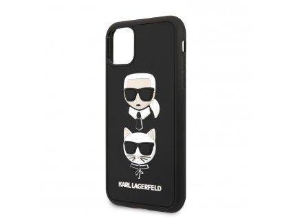 KLHCN58IK3DKC Karl Lagerfeld 3D Rubber Heads Kryt pro iPhone 11 Pro Black