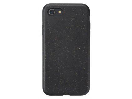 Kompostovatelný eko kryt Cellularline Become pro Apple iPhone SE (2020)/8/7/6, černý