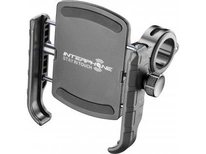 Univerzální držák na mobilní telefony Interphone Crab s úchytem na řidítka, černý