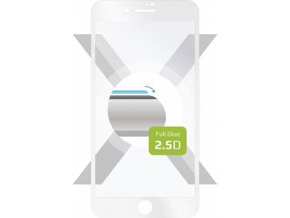 Ochranné tvrzené sklo FIXED Full-Cover pro Apple iPhone 7 Plus/8 Plus, lepení přes celý displej, bílé