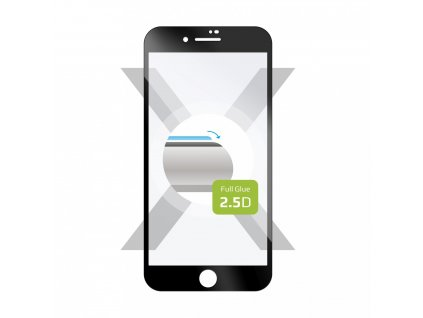 Ochranné tvrzené sklo FIXED Full-Cover pro Apple iPhone 7 Plus/8 Plus, lepení přes celý displej, černé