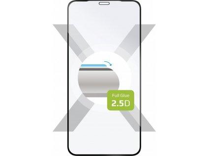 Ochranné tvrzené sklo FIXED Full-Cover pro Apple iPhone XS Max/11 Pro Max, lepení přes celý displej, černé