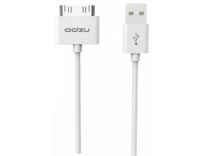 Odzu USB Charging Sync Cable 30pin, white