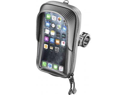 """Univerzální voděodolné pouzdro na mobilní telefony Interphone Master Pro, úchyt na řídítka, max. 6,7"""", černé"""
