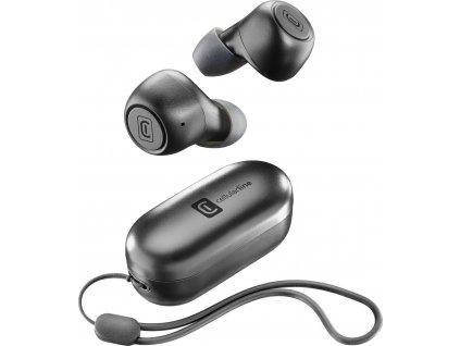 True Wireless sluchátka Cellularline Pick s dobíjecím pouzdrem, černá