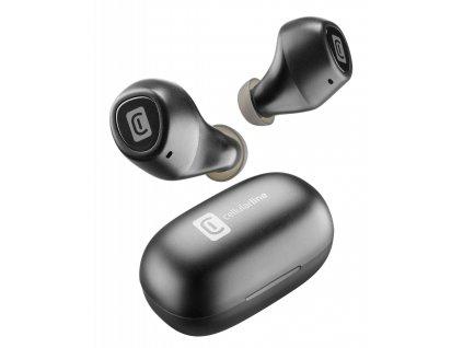 True Wireless sluchátka Cellularline Blink s dobíjecím pouzdrem, černá