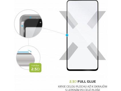 Ochranné tvrzené sklo FIXED Full-Cover pro Samsung Galaxy A70/A70s, lepení přes celý displej, černé
