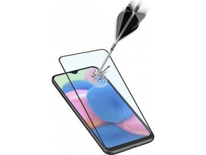 Ochranné tvrzené sklo pro celý displej Cellularline Capsule pro Samsung Galaxy A30s, černé