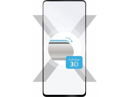 Ochranné tvrzené sklo FIXED 3D Full-Cover pro Samsung Galaxy A51, s lepením přes celý displej, černé