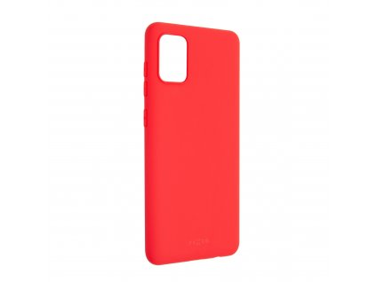 Zadní pogumovaný kryt FIXED Story pro Samsung Galaxy A31, červený