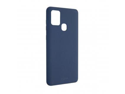 Zadní pogumovaný kryt FIXED Story pro SamsungGalaxy A21s, modrý
