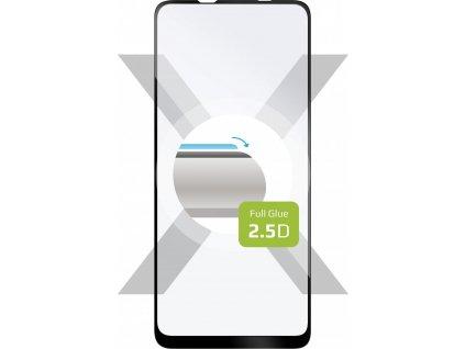 Ochranné tvrzené sklo FIXED Full-Cover pro Samsung Galaxy A21s, lepení přes celý displej, černé