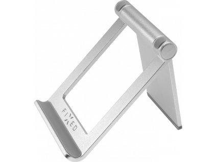Hliníkový stojánek FIXED Frame TAB na stůl pro mobilní telefony a tablety, stříbrný