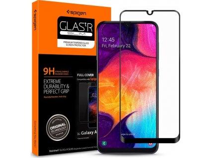 Spigen Glass FC HD, black - Galaxy A50