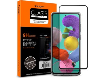 Spigen Glass FC, black - Galaxy A51