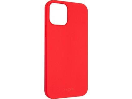Zadní pogumovaný kryt FIXED Story pro Apple iPhone 12/12 Pro, červený