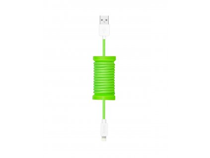 HOCO kabel USB Lightning U12 Silica Gel Storage pro iPhone a iPad, black 1,1m green