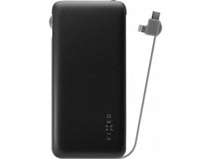 Powerbanka FIXED Zen 10 000 s kabelem Lightning/USB-C, 10 000 mAh, černá