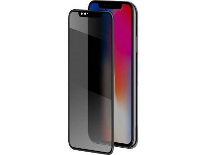 Ochranné tvrzené sklo Clearo Privacy 3D pro Apple iPhone X / XS (sklo do hran displeje), ztmavovací efekt, černé