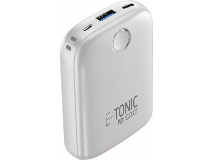 Kompaktní powerbanka E-Tonic 10 000 mAh, Power Delivery, bílá
