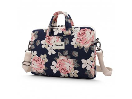 TASKA MACBOOK CANVASLIFE BRIEFCASE LAPTOP 13 14 NAVY ROSE
