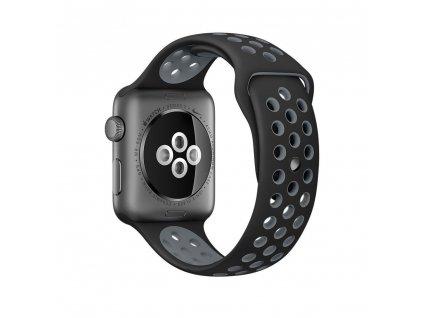 Clearo Sport Silikonový řemínek / pásek pro Apple Watch 42mm – černo-šedý 3