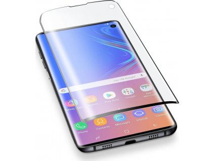 10D Tvrzené sklo Clearo na celý displej pro Samsung Galaxy S10 - Black