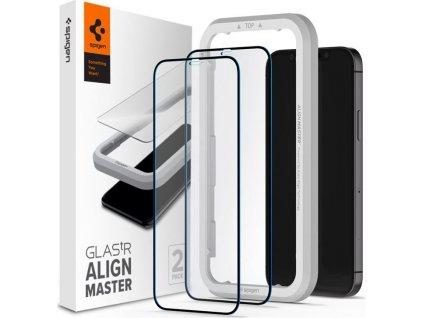 Spigen Glas tR ALM FC Black, 2P -iPhone 12 Pro Max