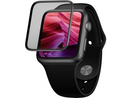 Ochranné tvrzené sklo FIXED 3D Full-Cover pro Apple Watch 44mm s aplikátorem, s lepením přes celý displej, černé