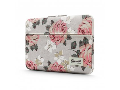 CANVASLIFE SLEEVE LAPTOP 13 14 WHITE ROSE pouzdro