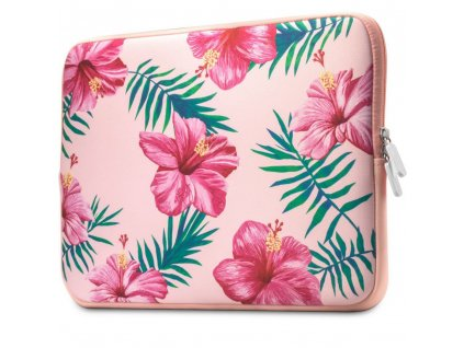 """Pouzdro na MacBook / notebook - Tech-Protect Floral, 13""""-14"""" Pink"""