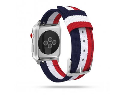 Tech-Protect Welling řemínek pro Apple Watch 2/3/4/5/6/SE (42/44mm), Navy Red