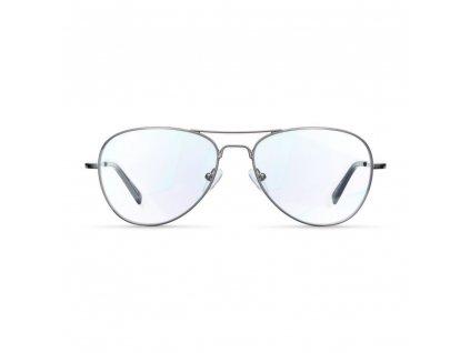 Meller brýle s filtrem modrého světla k počítači - Ashia, Gun Metal