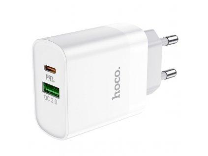 Rychlonabíječka Hoco C80A PD20W/QC3.0 pro iPhone, Samsung a další, White